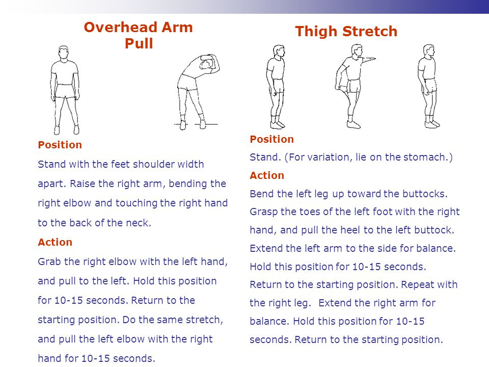 Overhead Arm Pull Thigh Stretch