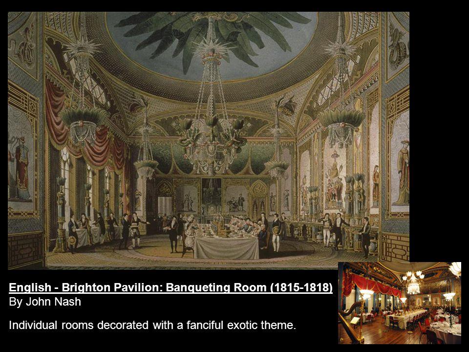 English - Brighton Pavilion: Banqueting Room (1815-1818)