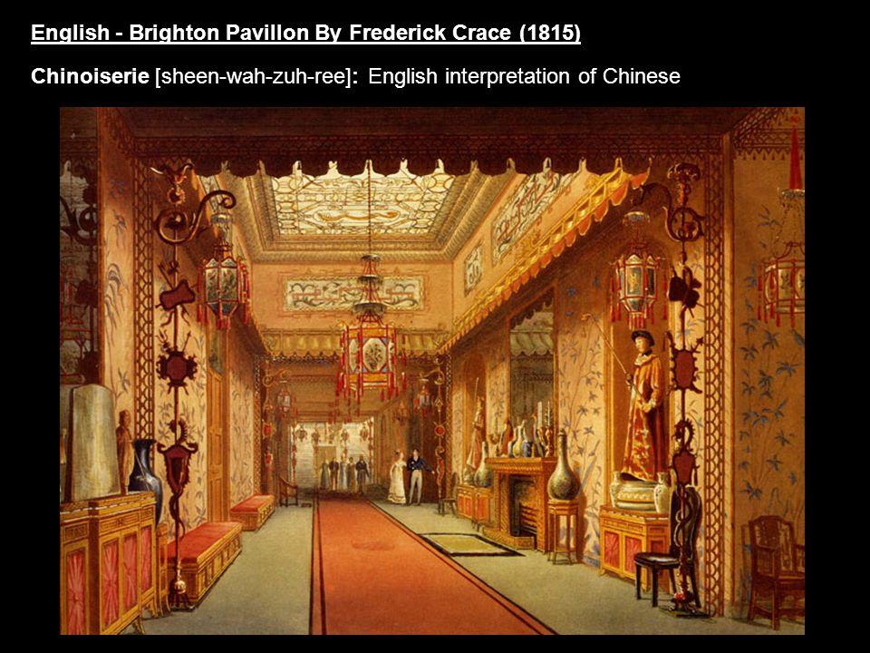 English - Brighton Pavillon By Frederick Crace (1815)