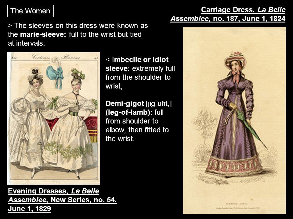 The Women Carriage Dress, La Belle Assemblee, no. 187, June 1, 1824.