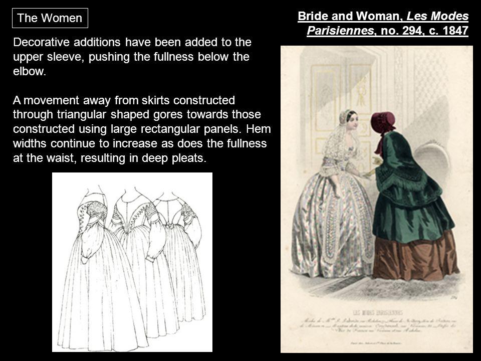 The Women Bride and Woman, Les Modes Parisiennes, no. 294, c. 1847.