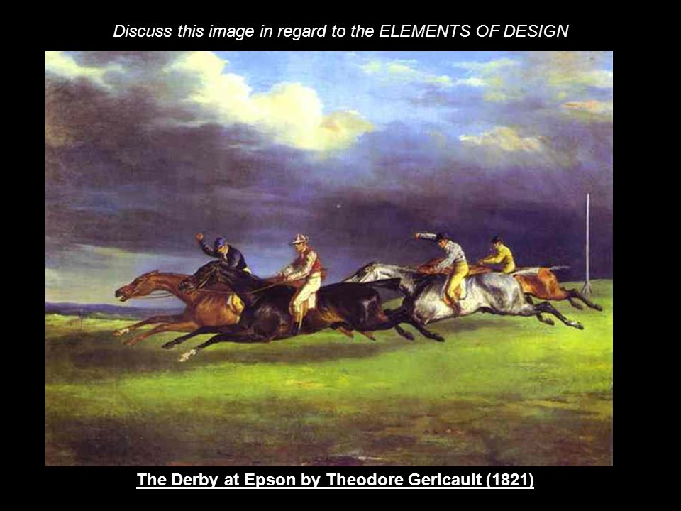 The Derby at Epson by Theodore Gericault (1821)