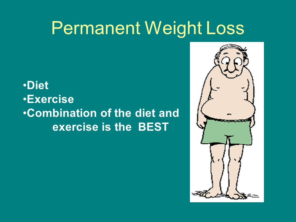Permanent Weight Loss Diet Exercise