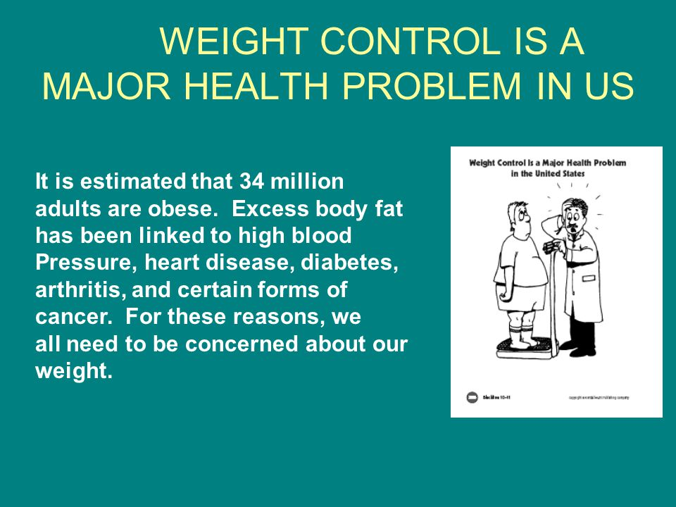 WEIGHT CONTROL IS A MAJOR HEALTH PROBLEM IN US