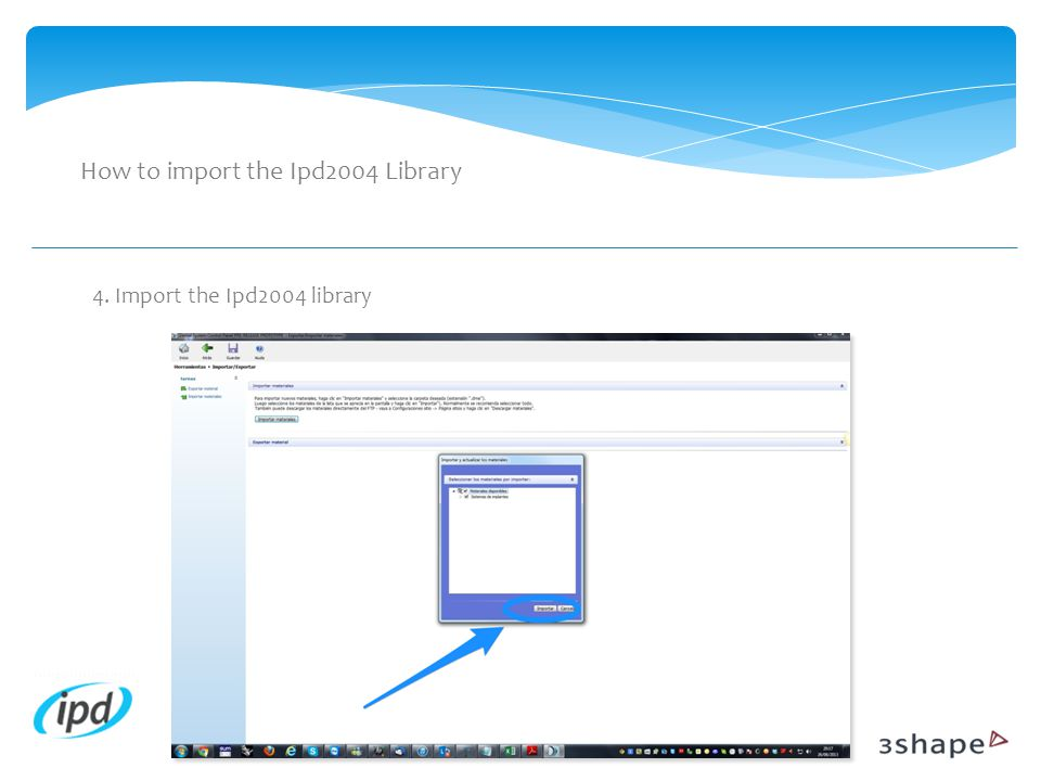 How to import the Ipd2004 Library
