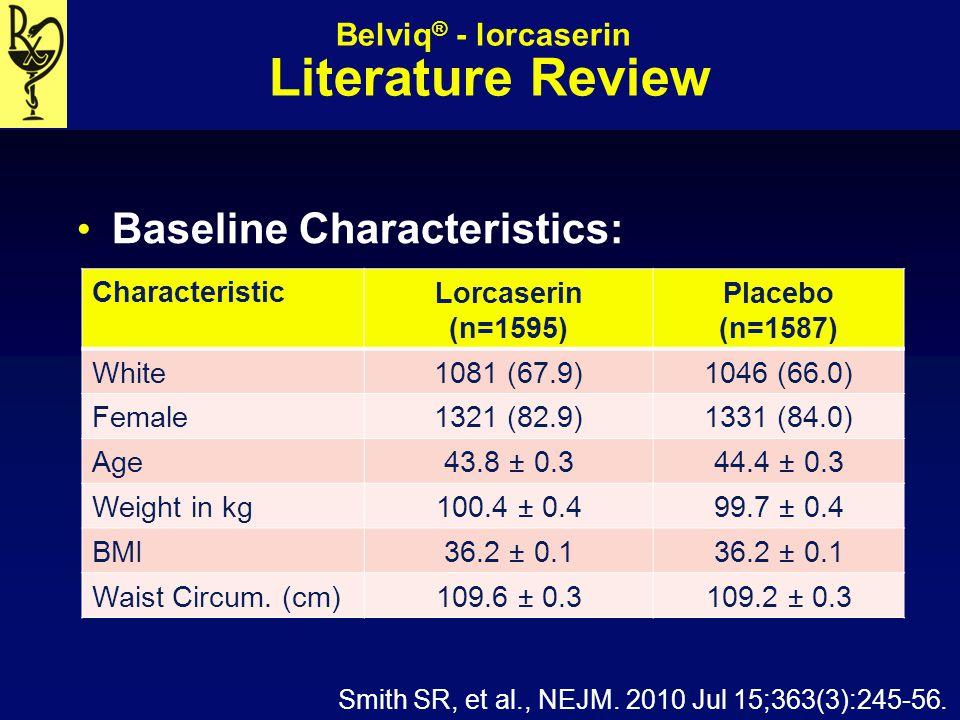 Belviq® - lorcaserin Literature Review