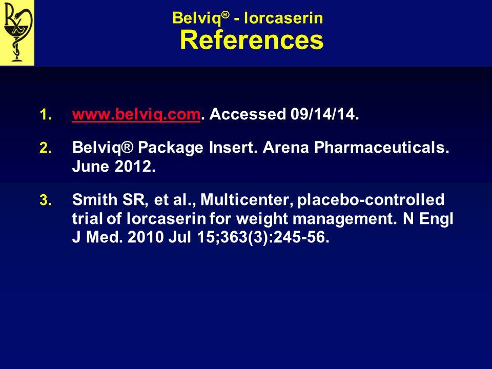 Belviq® - lorcaserin References