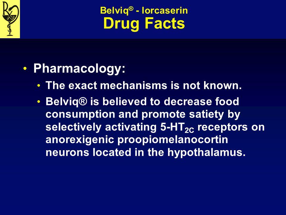 Belviq® - lorcaserin Drug Facts