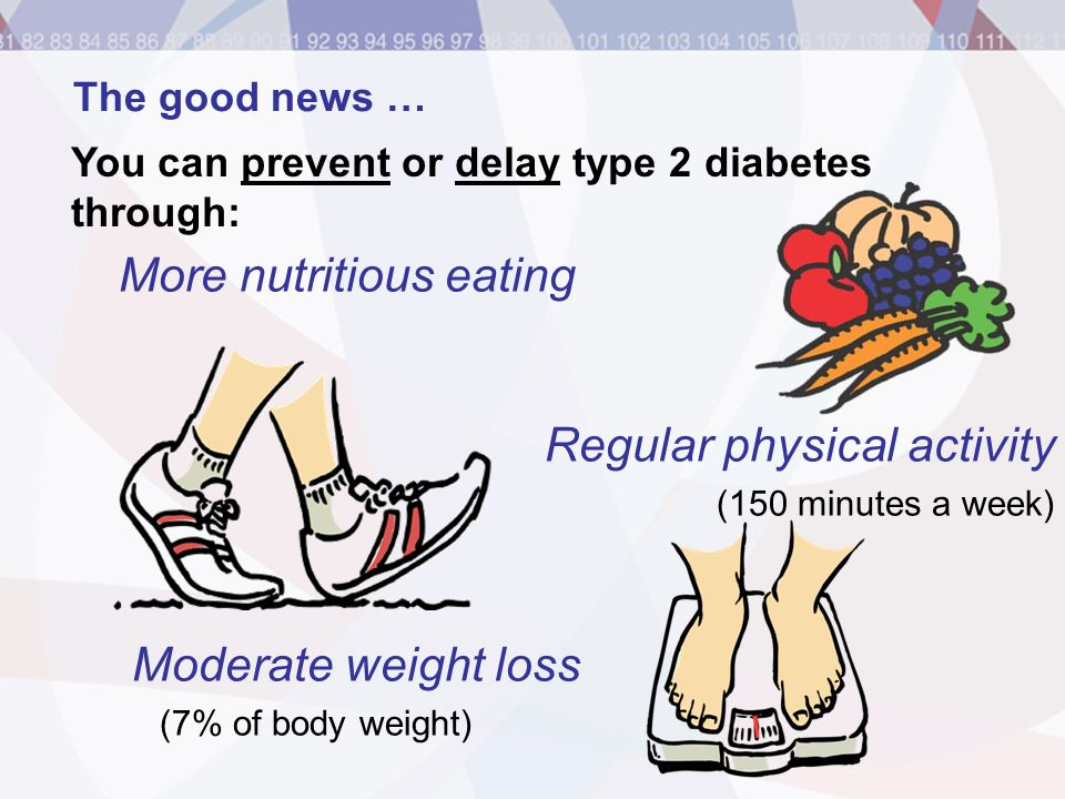 More nutritious eating Regular physical activity