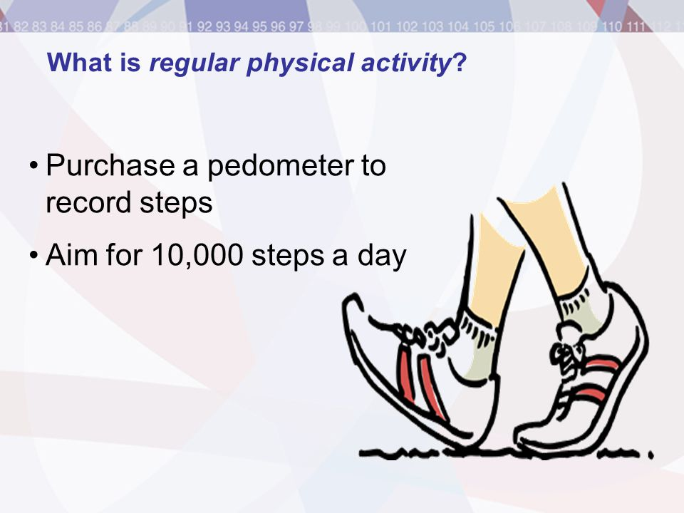 What is regular physical activity