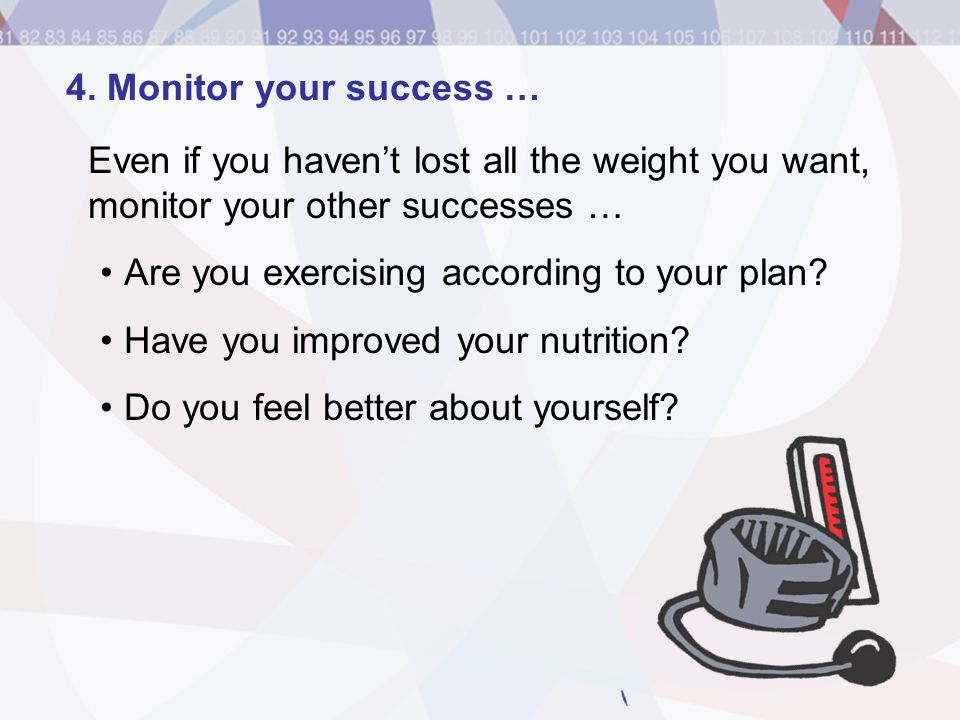 Are you exercising according to your plan
