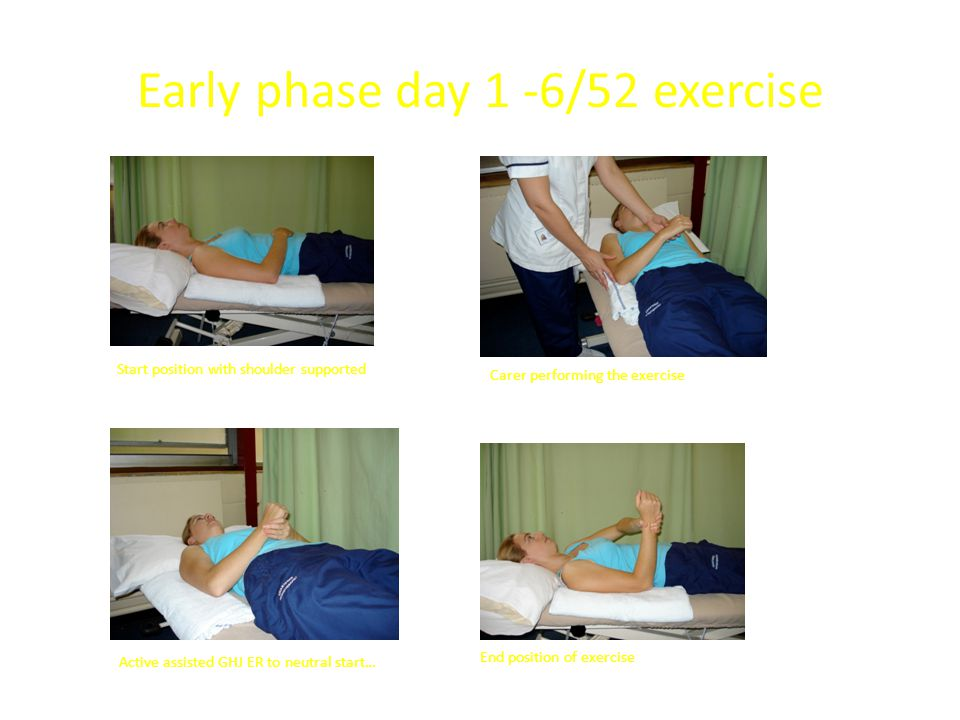 Early phase day 1 -6/52 exercise