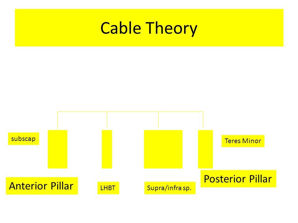 Cable Theory Posterior Pillar Anterior Pillar subscap Teres Minor LHBT
