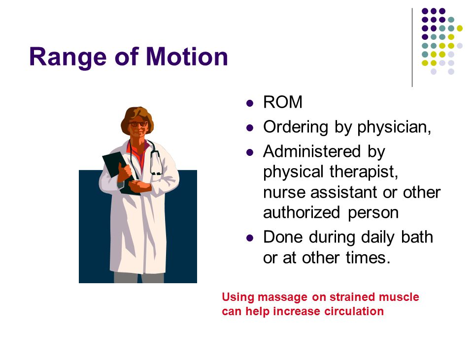 Range of Motion ROM Ordering by physician,