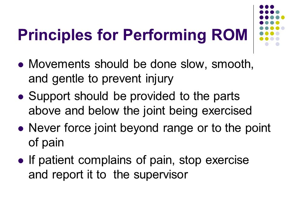 Principles for Performing ROM