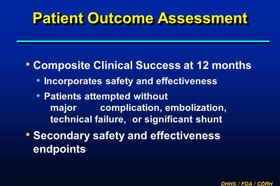 Patient Outcome Assessment