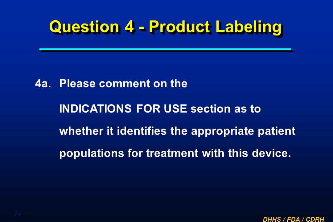 Question 4 - Product Labeling
