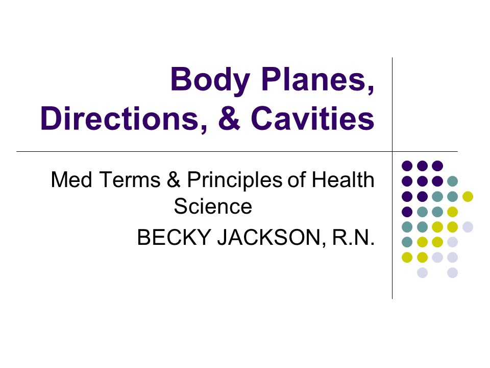 Body Planes, Directions, & Cavities