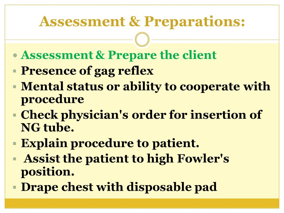 Assessment & Preparations:
