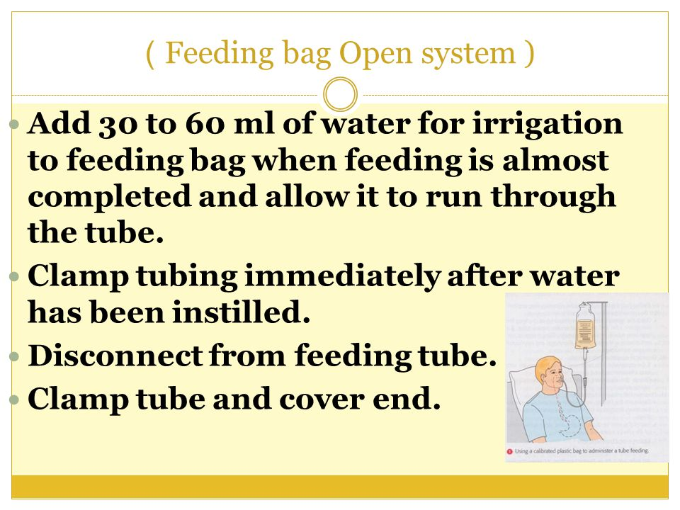 Feeding bag Open system ) )