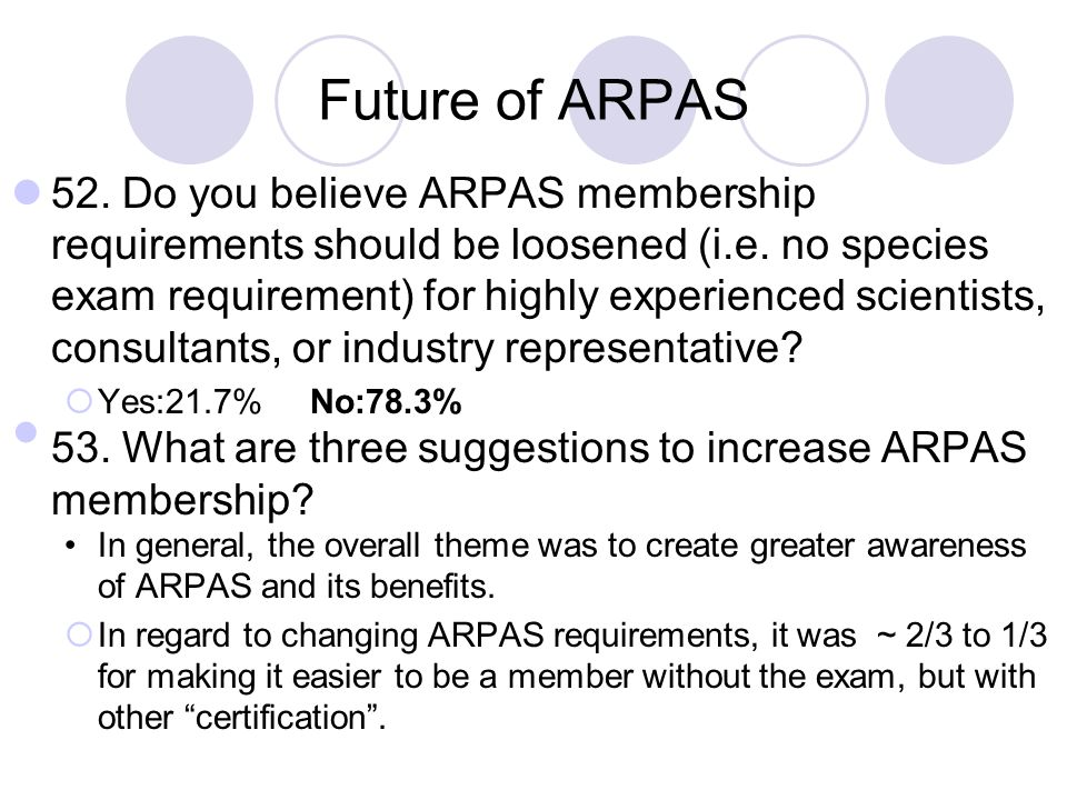 Future of ARPAS