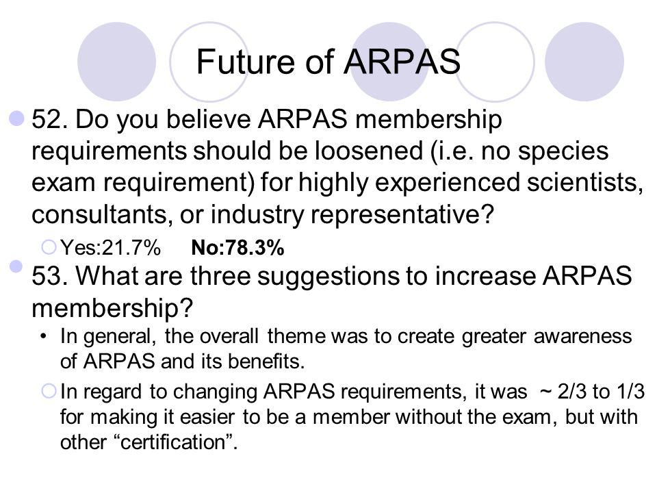 Future of ARPAS