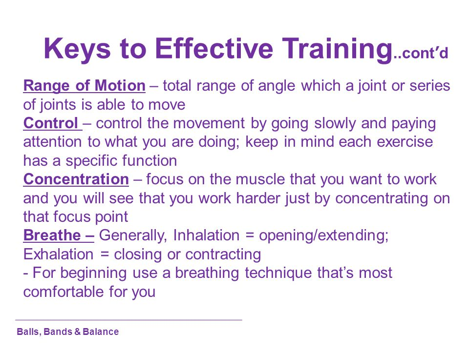 Keys to Effective Training..cont'd