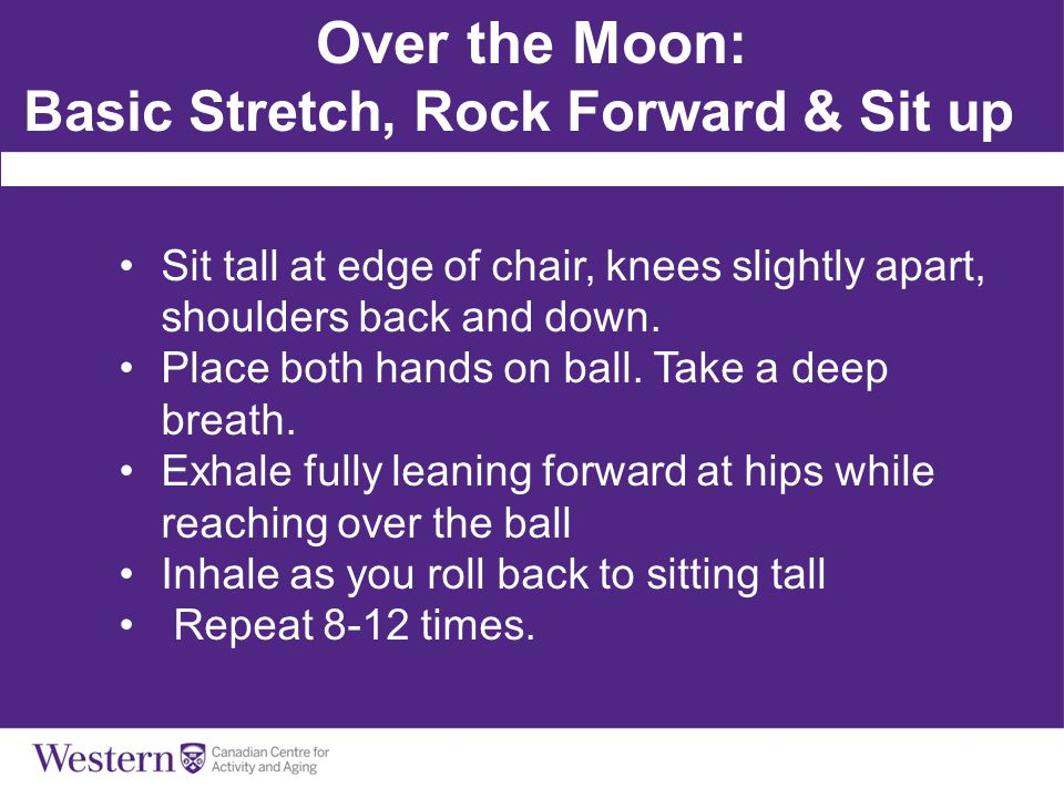 Over the Moon: Basic Stretch, Rock Forward & Sit up