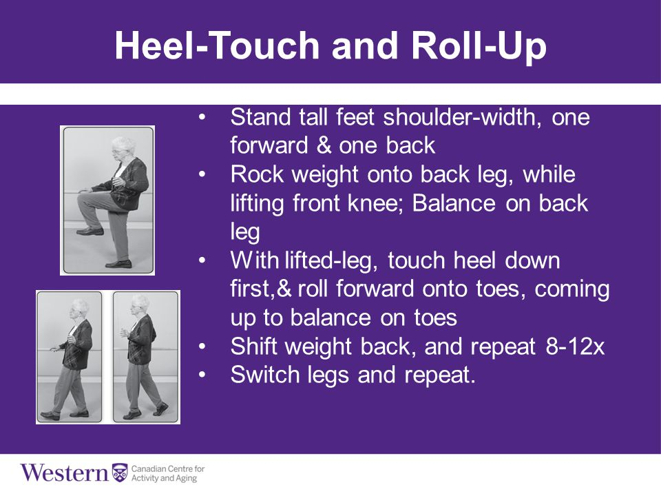 Heel-Touch and Roll-Up