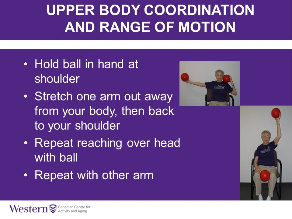 UPPER BODY COORDINATION AND RANGE OF MOTION