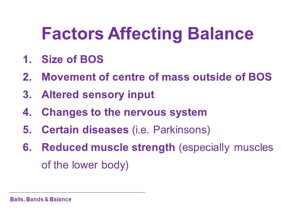 Factors Affecting Balance