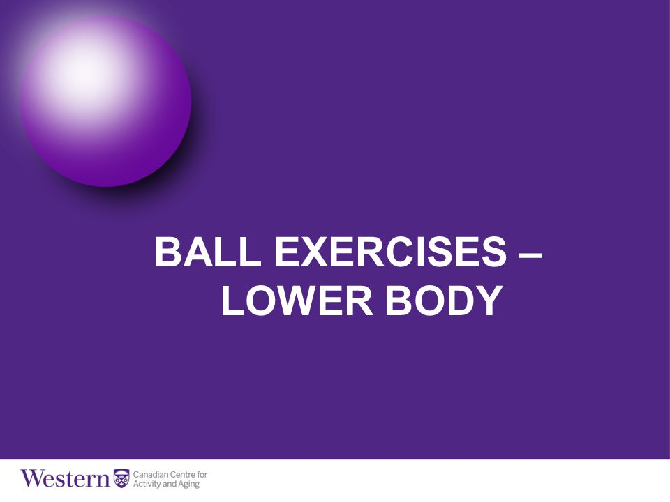 BALL EXERCISES – LOWER BODY
