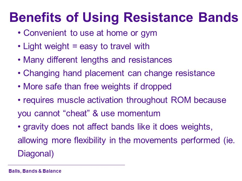 Benefits of Using Resistance Bands