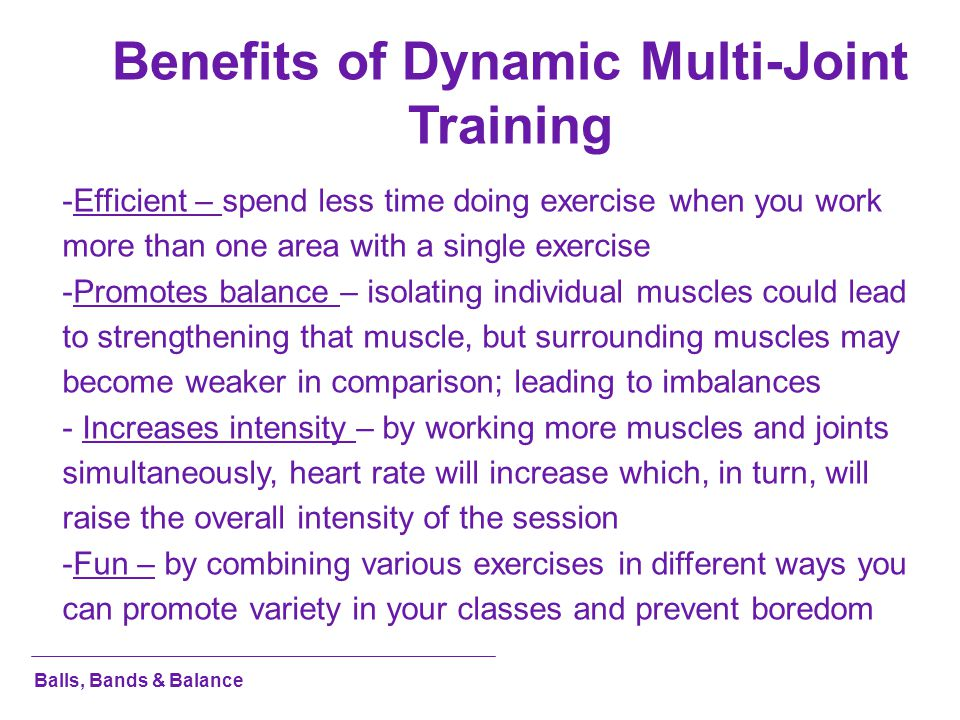 Benefits of Dynamic Multi-Joint Training