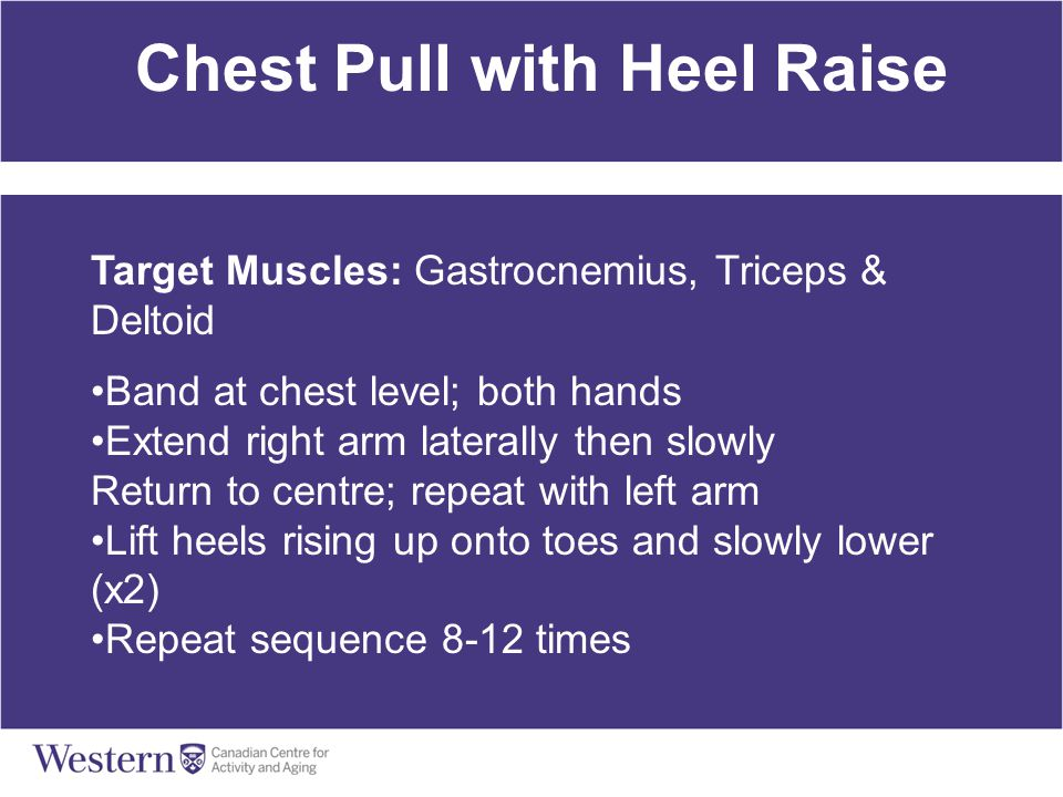 Chest Pull with Heel Raise