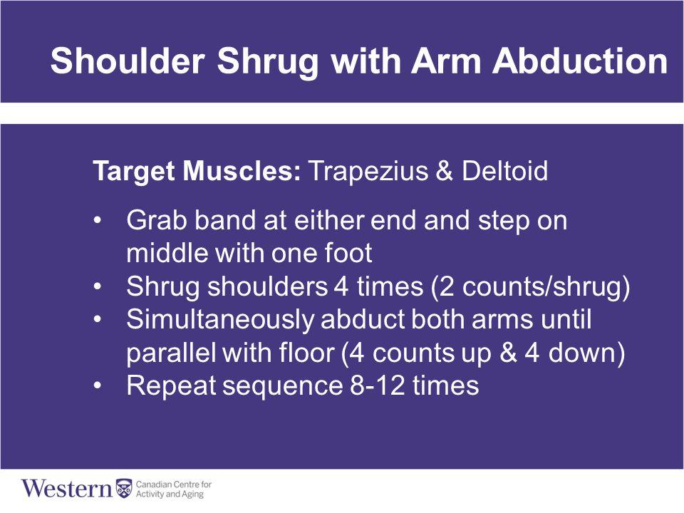Shoulder Shrug with Arm Abduction