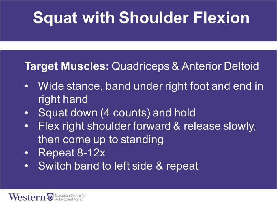 Squat with Shoulder Flexion