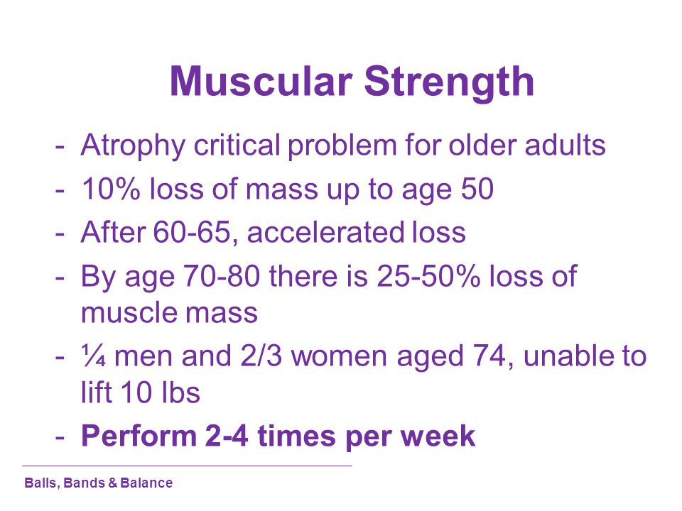 Muscular Strength Atrophy critical problem for older adults