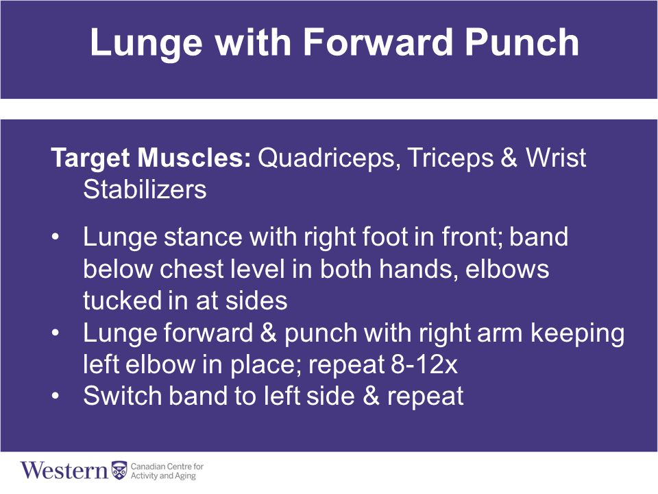 Lunge with Forward Punch