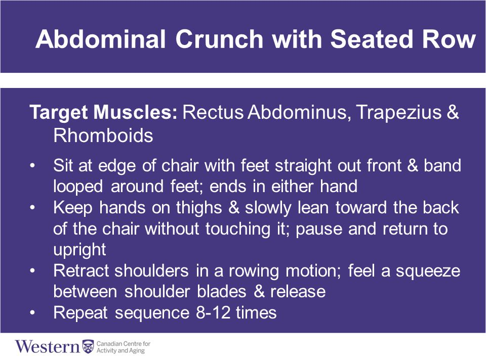 Abdominal Crunch with Seated Row