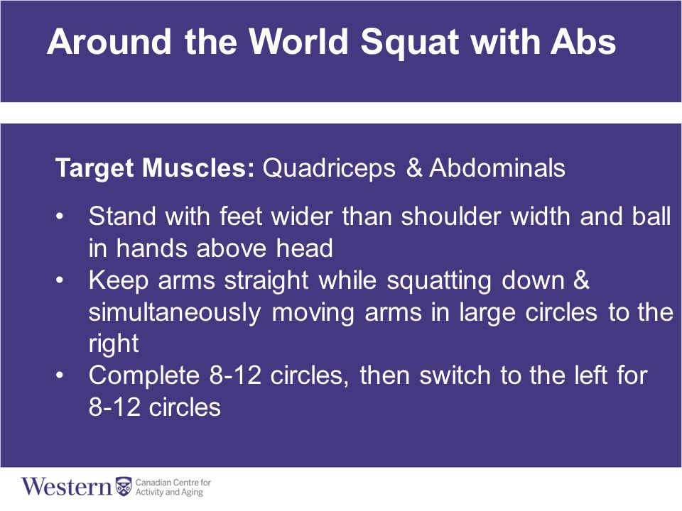 Around the World Squat with Abs