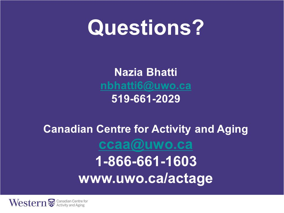 Canadian Centre for Activity and Aging