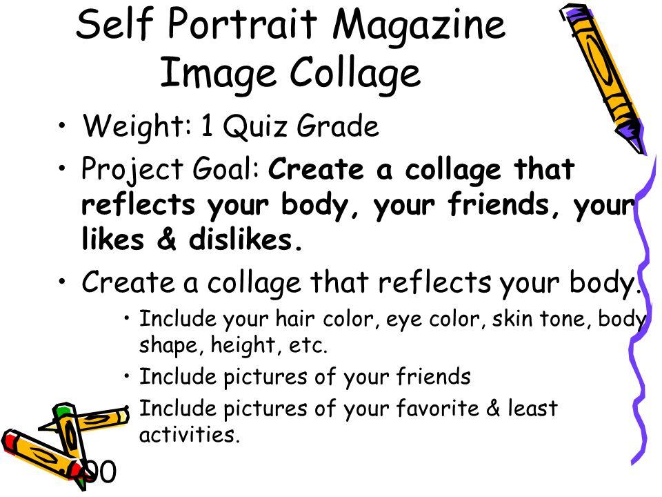Self Portrait Magazine Image Collage