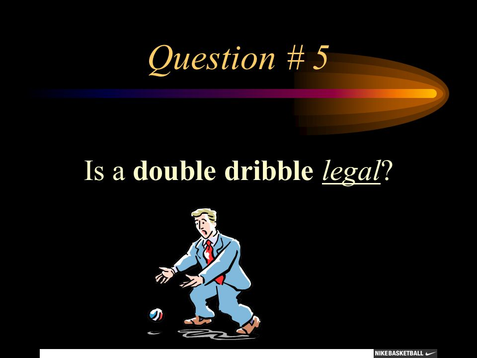 Is a double dribble legal