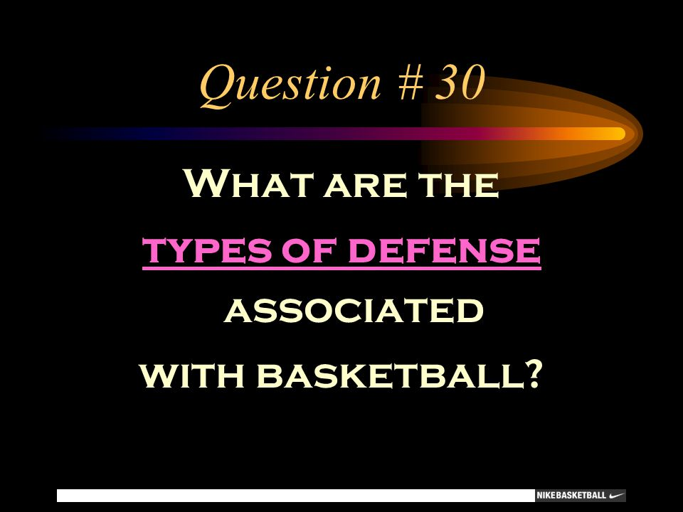 types of defense associated