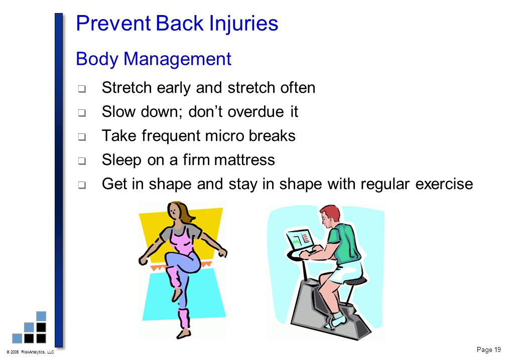 Prevent Back Injuries Body Management