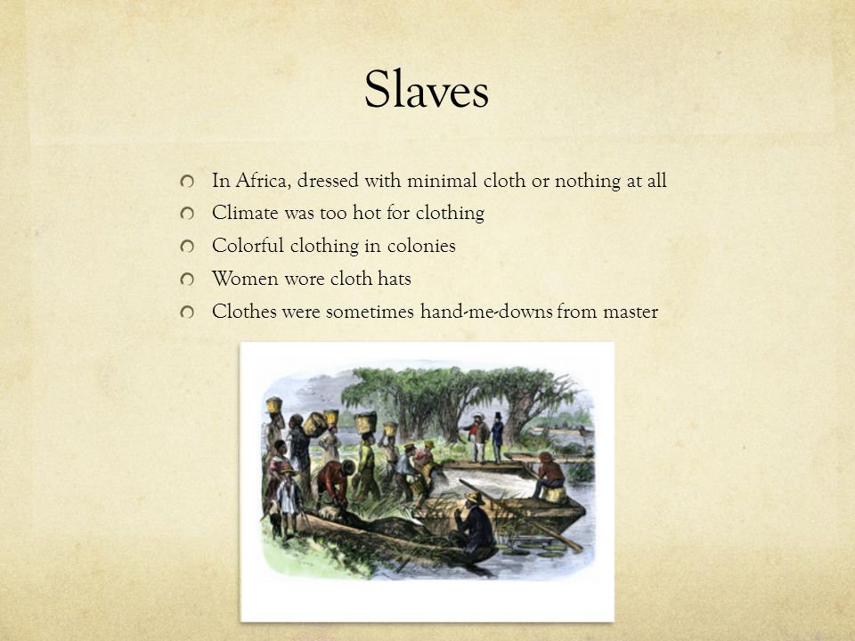 Slaves In Africa, dressed with minimal cloth or nothing at all
