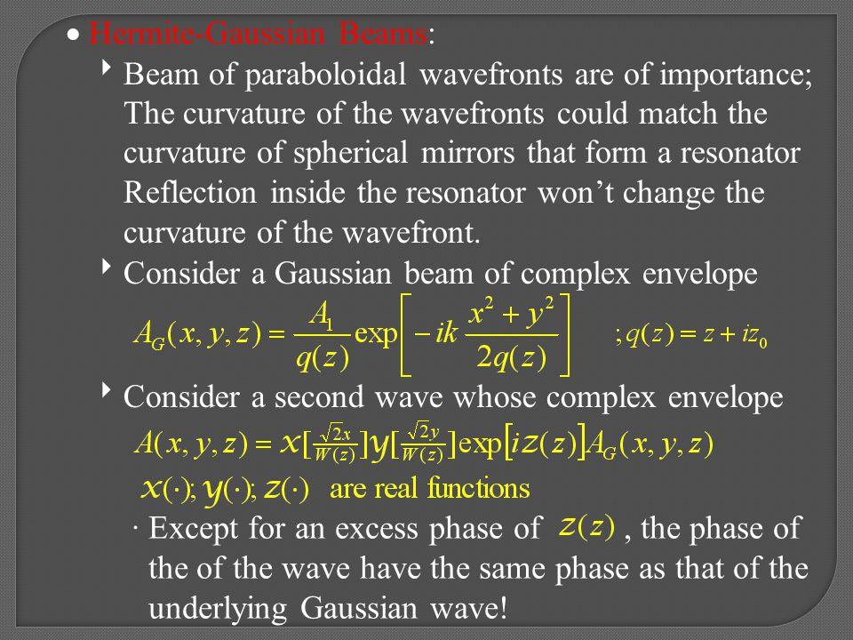 Hermite-Gaussian Beams: