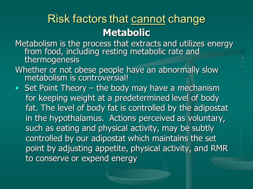 Risk factors that cannot change