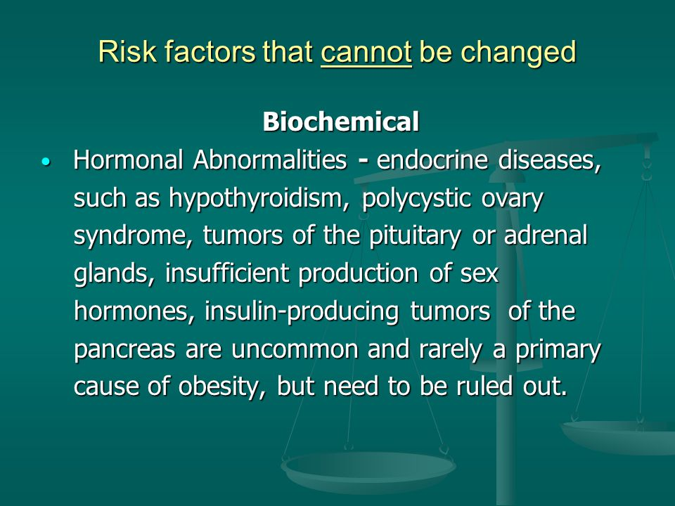 Risk factors that cannot be changed